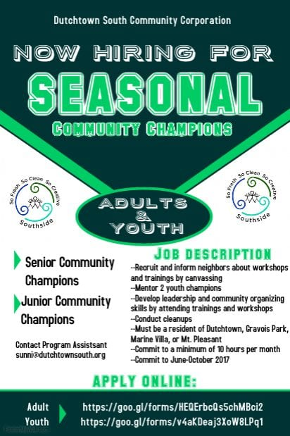 Community Champion flyer