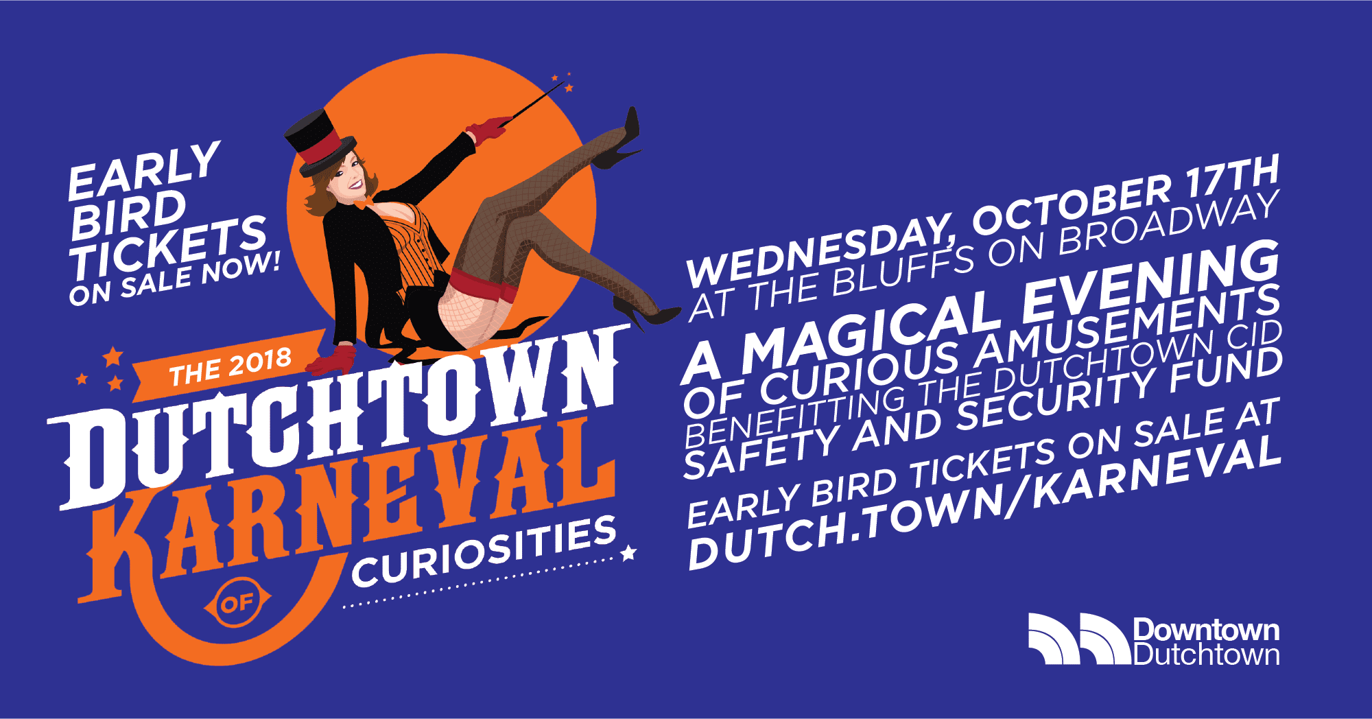 Early Bird tickets now on sale for the 2018 Dutchtown Karneval of Curiosities!