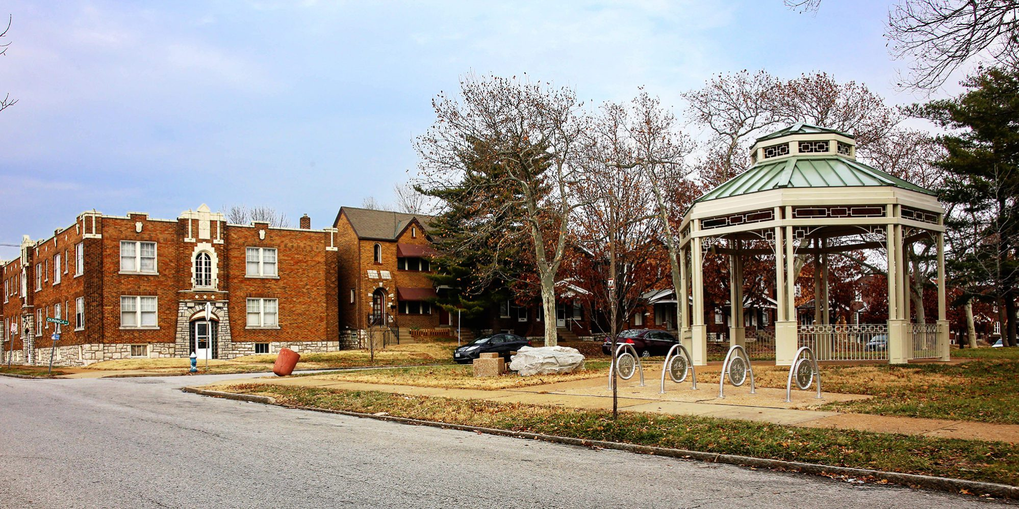 Amberg Park in the Dutchtown neighborhood of St. Louis, MO. Photo by Paul Sableman.