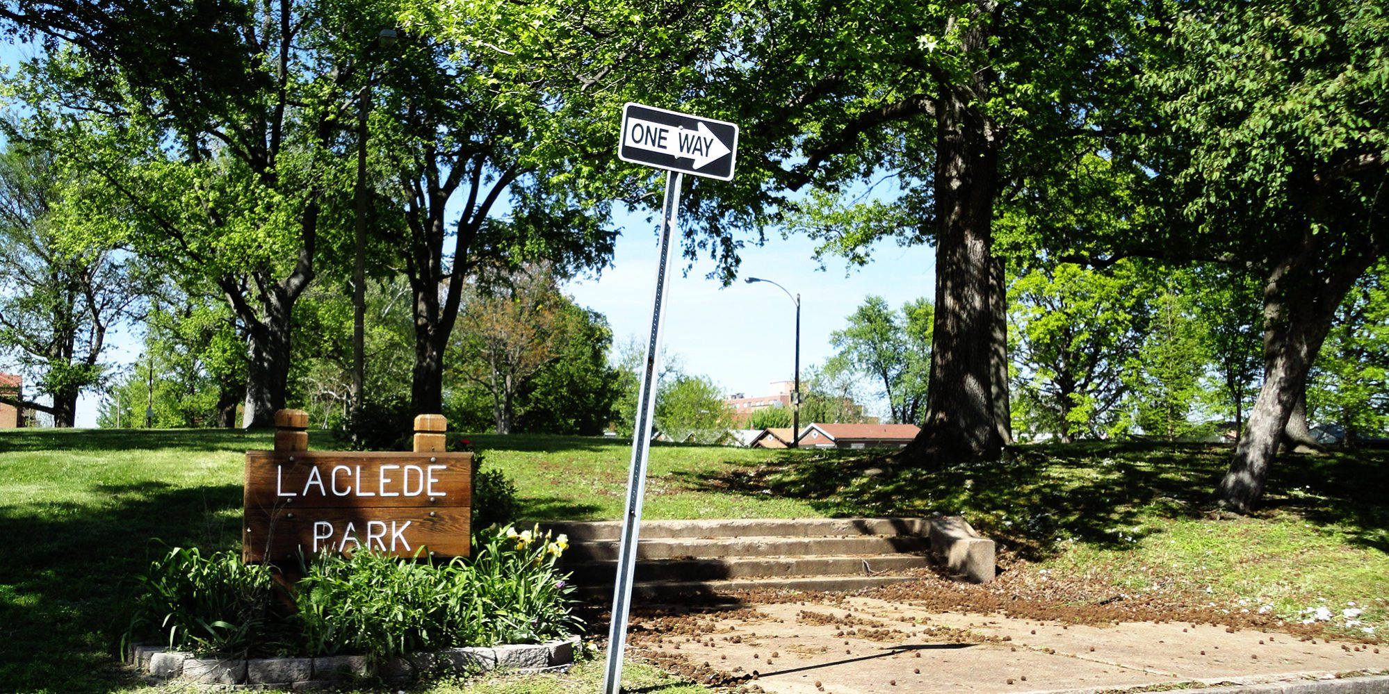 Laclede Park in the Dutchtown neighborhood of St. Louis, MO. Photo by Paul Sableman.