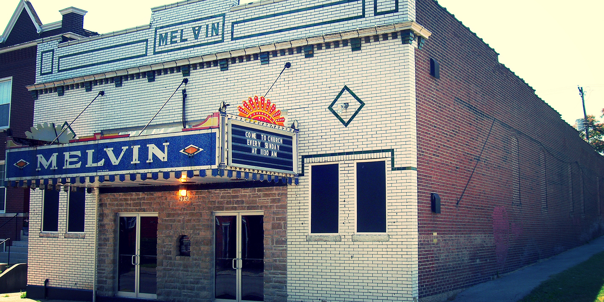 The former Melvin Theater on Chippewa Street in Dutchtown, St. Louis. Photo by Tom Lampe.