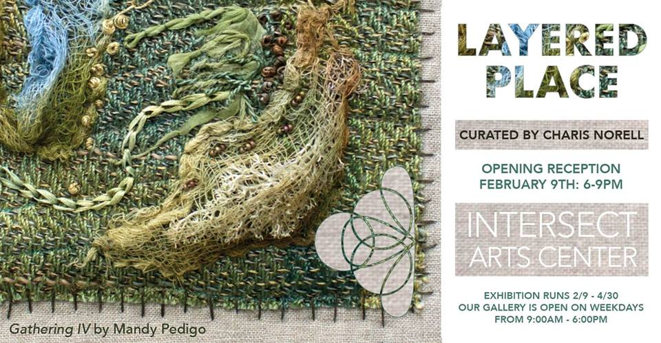Layered Place exhibition at Intersect Arts Center.