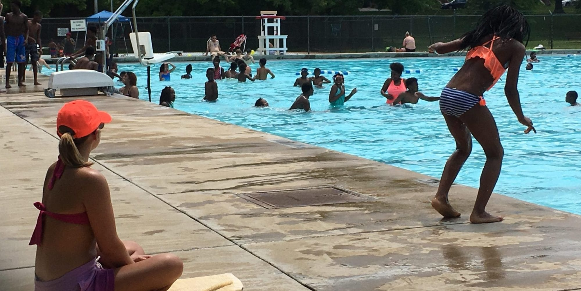 The pool at Marquette Park.