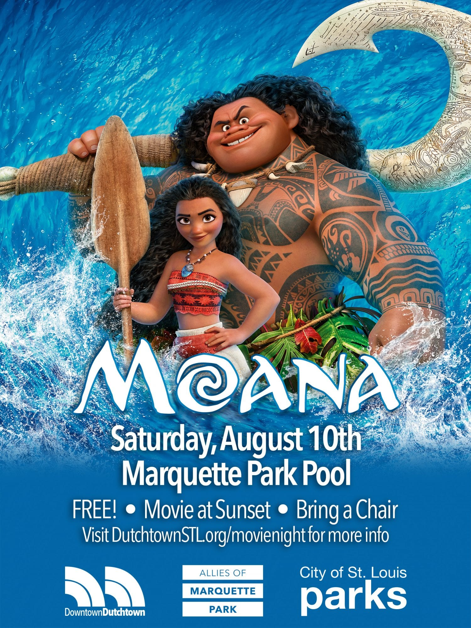 Moana at the Marquette Park Pool.