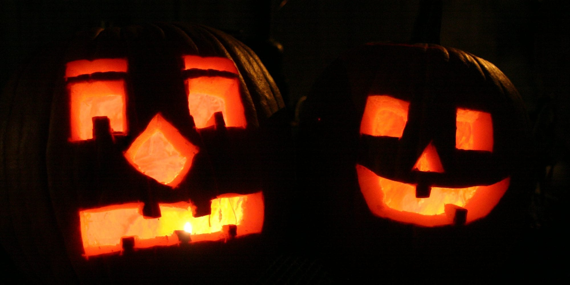 Halloween jack-o-lanterns. Photo by Tom Lampe.