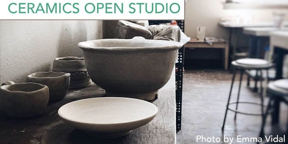 Ceramics Open Studio at Intersect Arts Center.