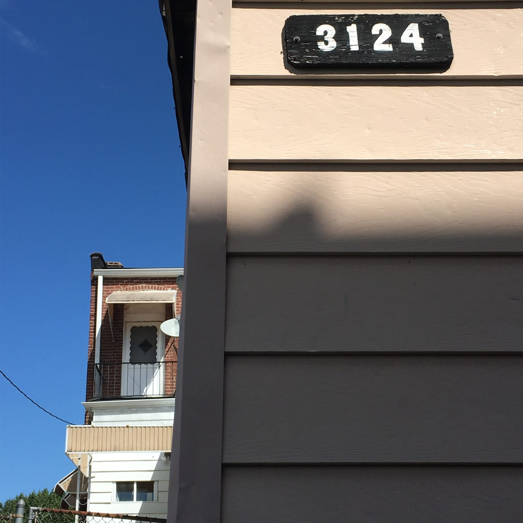 3124, house numbers in Dutchtown, St. Louis. Photo by Josh Burbridge.