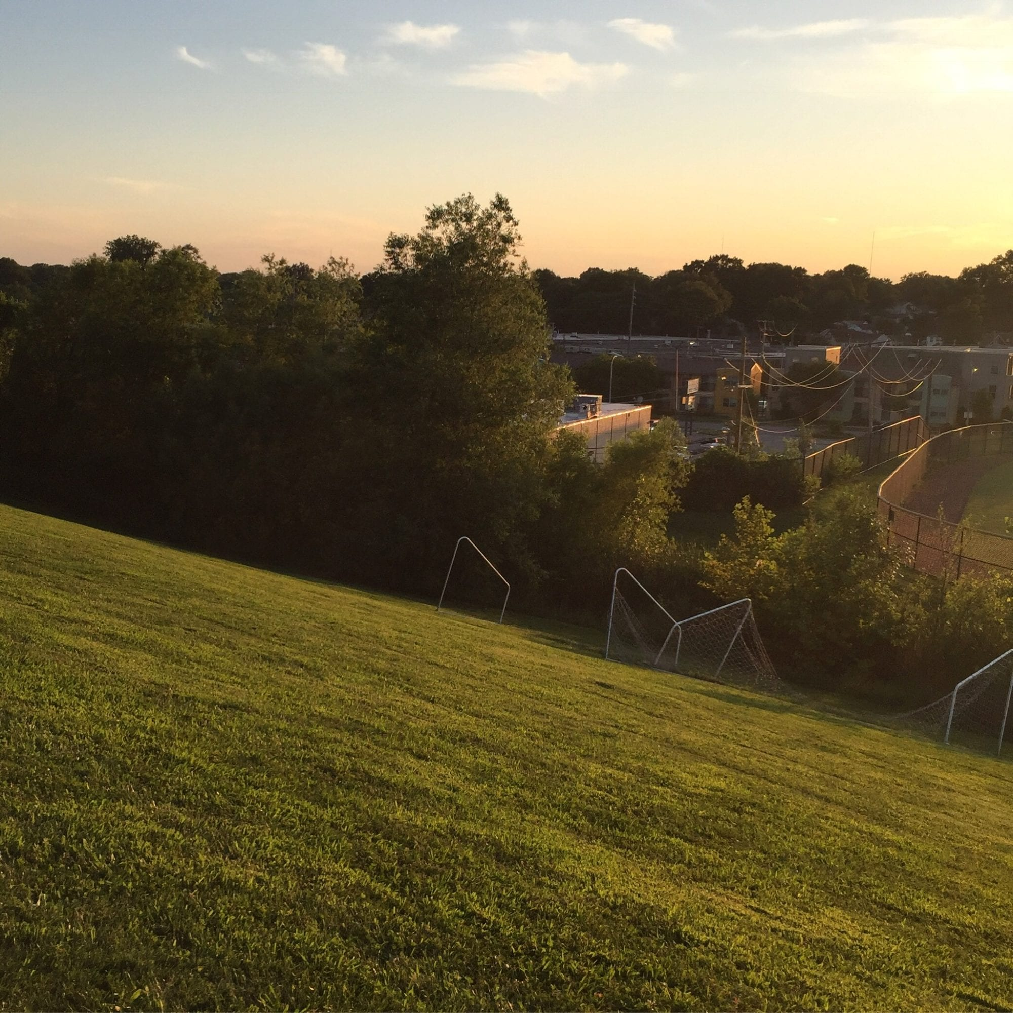 View from the hill at St. Mary's High School in Dutchtown, St. Louis. Photo by Josh Burbridge.