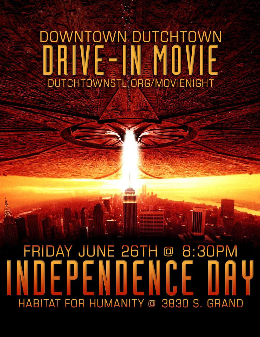 Downtown Dutchtown Drive-In Movie: Friday, June 26th at Habitat for Humanity.