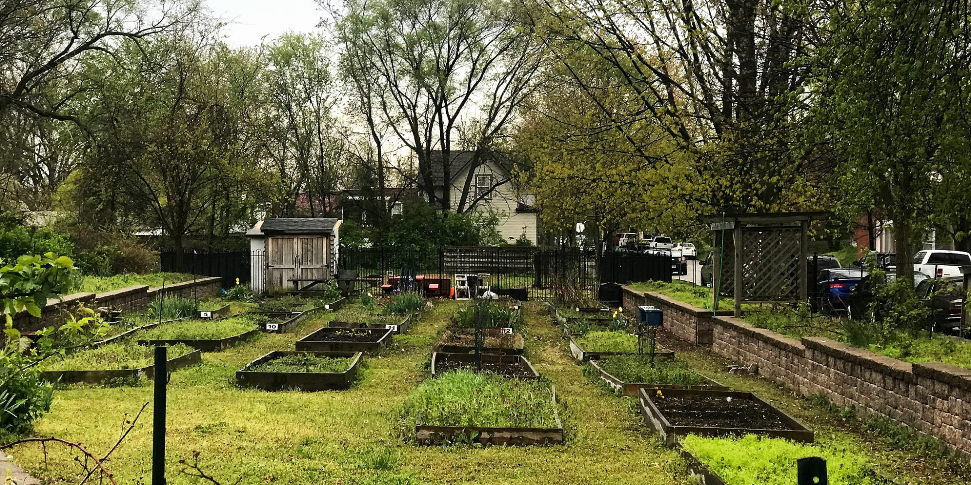 The VAL Community Garden on Virginia Avenue in Dutchtown, St. Louis.
