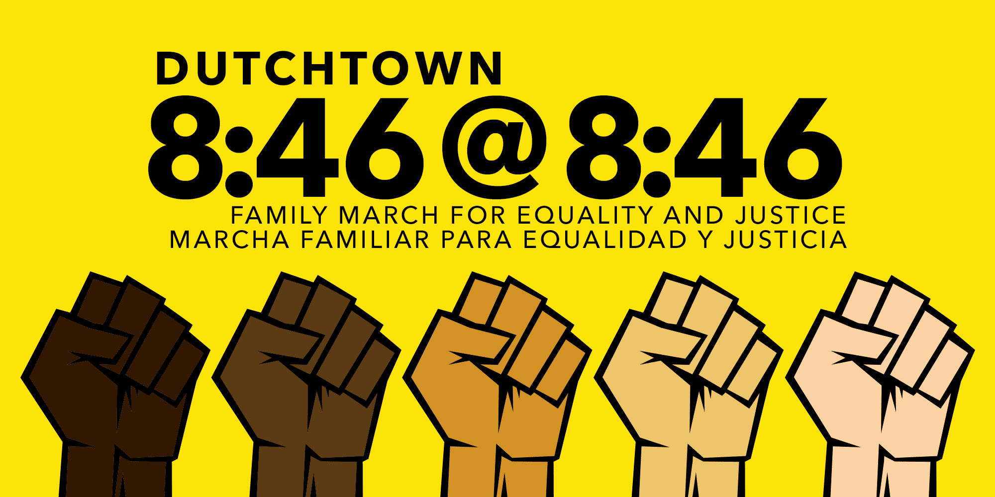Dutchtown 8:46 @ 8:46: Family march for equality and justice/Marcha familiar para equalidad y justicia.