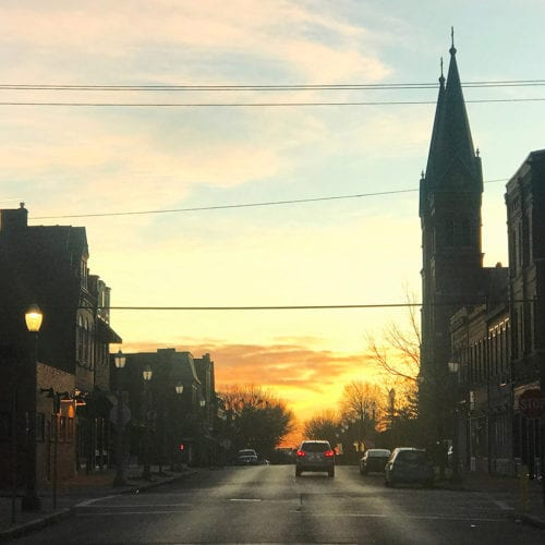 Sunrise on Meramec Street in Downtown Dutchtown.