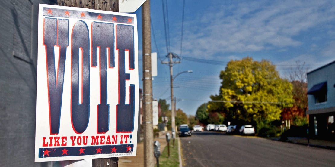 Vote like you mean it. Photo by Paul Sableman.
