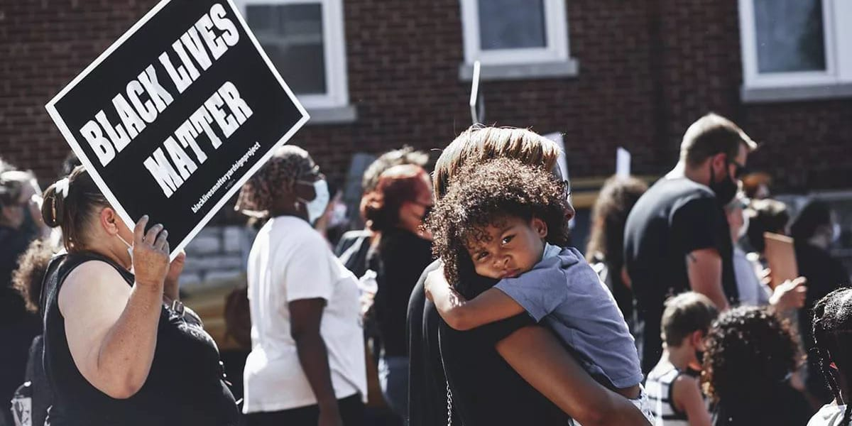 A child at the Dutchtown Justice Alliance March for Black Lives Matter. Photo by Chip Smith of Cross Grand.