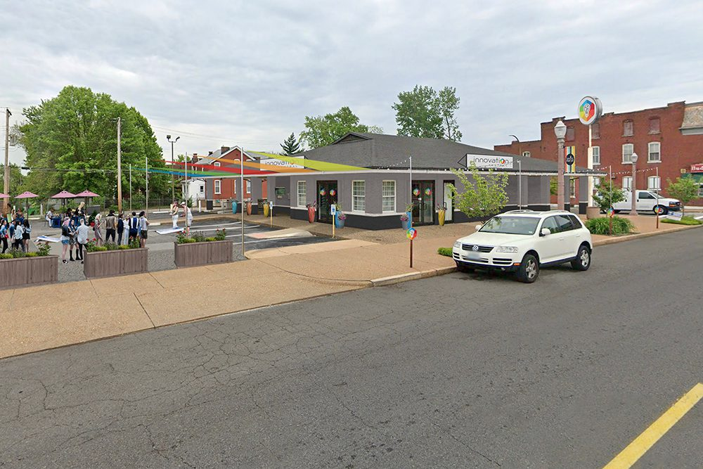 A rendering of the redesigned Neighborhood Innovation Center in Dutchtown.