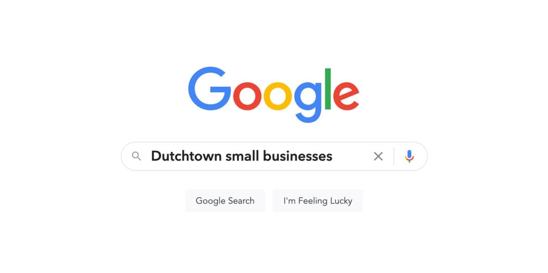 Searching Google for Dutchtown small businesses.
