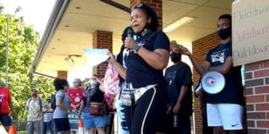 Black Lives Matter march organized at the Neighborhood Innovation Center in Dutchtown.