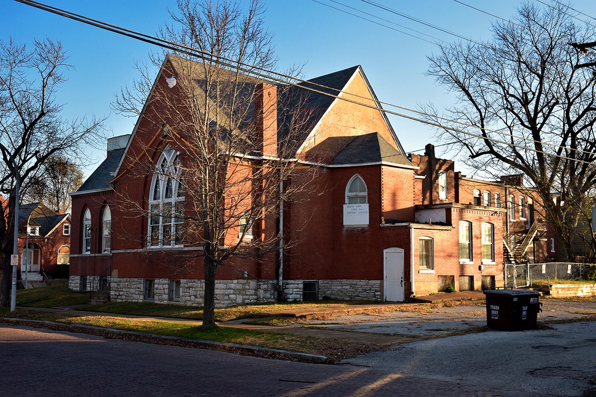 South Side Free Will Baptist Church in Mount Pleasant, St. Louis, MO.