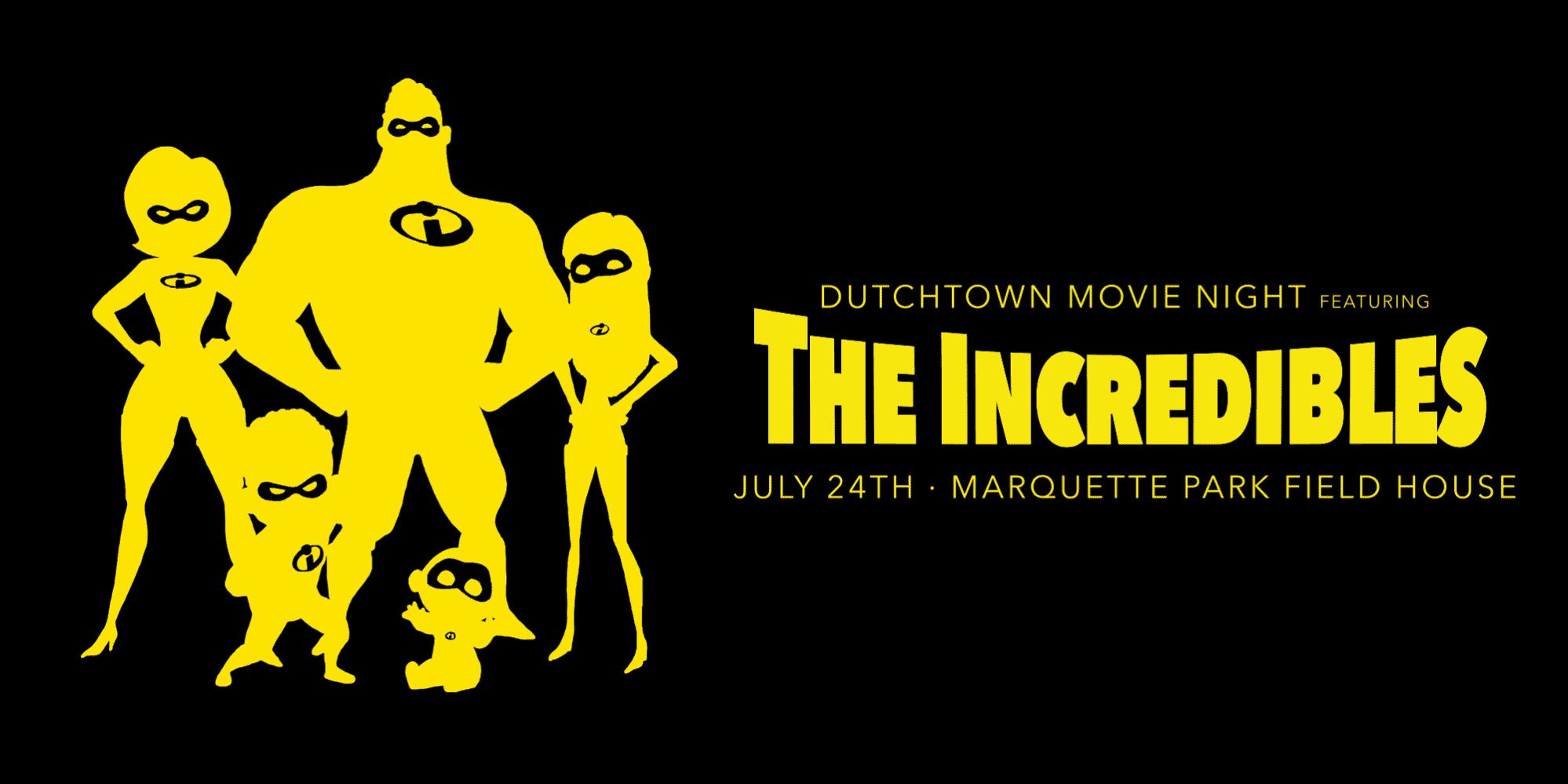 The Incredibles at Dutchtown Mivie Night on July 24th, 2021.