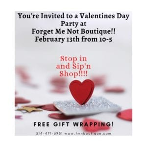 Forget Me Not Boutique's Valentine's Day Party.