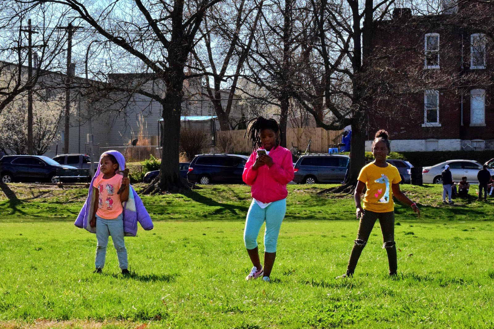 Children at Marquette Park in Dutchtown, St. Louis, MO.