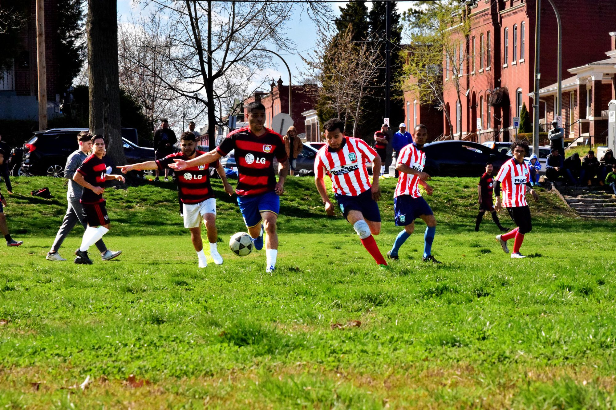 A Liga Latina soccer game at Marquette Park in Dutchtown, St. Louis, MO.