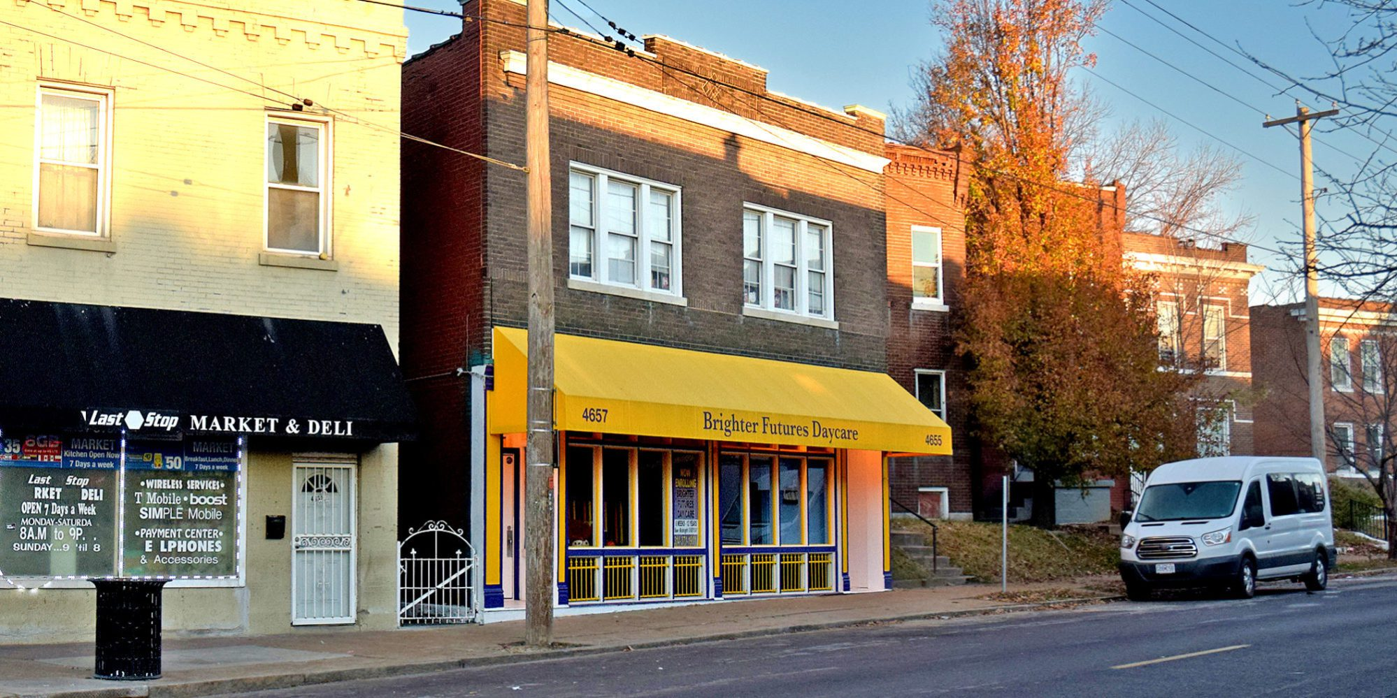 Brighter Futures Day Care on Virginia Avenue in Dutchtown, St. Louis, MO.