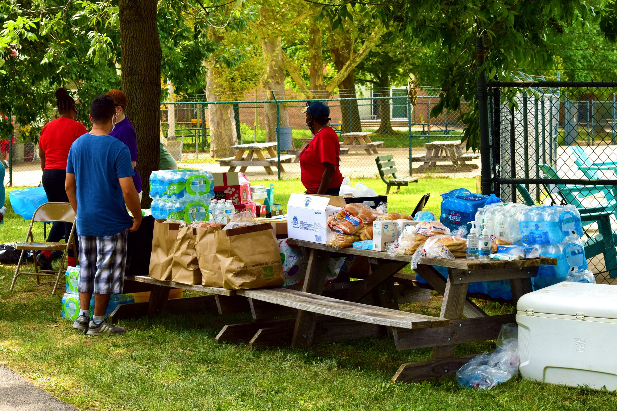 Free food and drinks for attendees at Marquette Community Day in Dutchtown, St. Louis, MO.