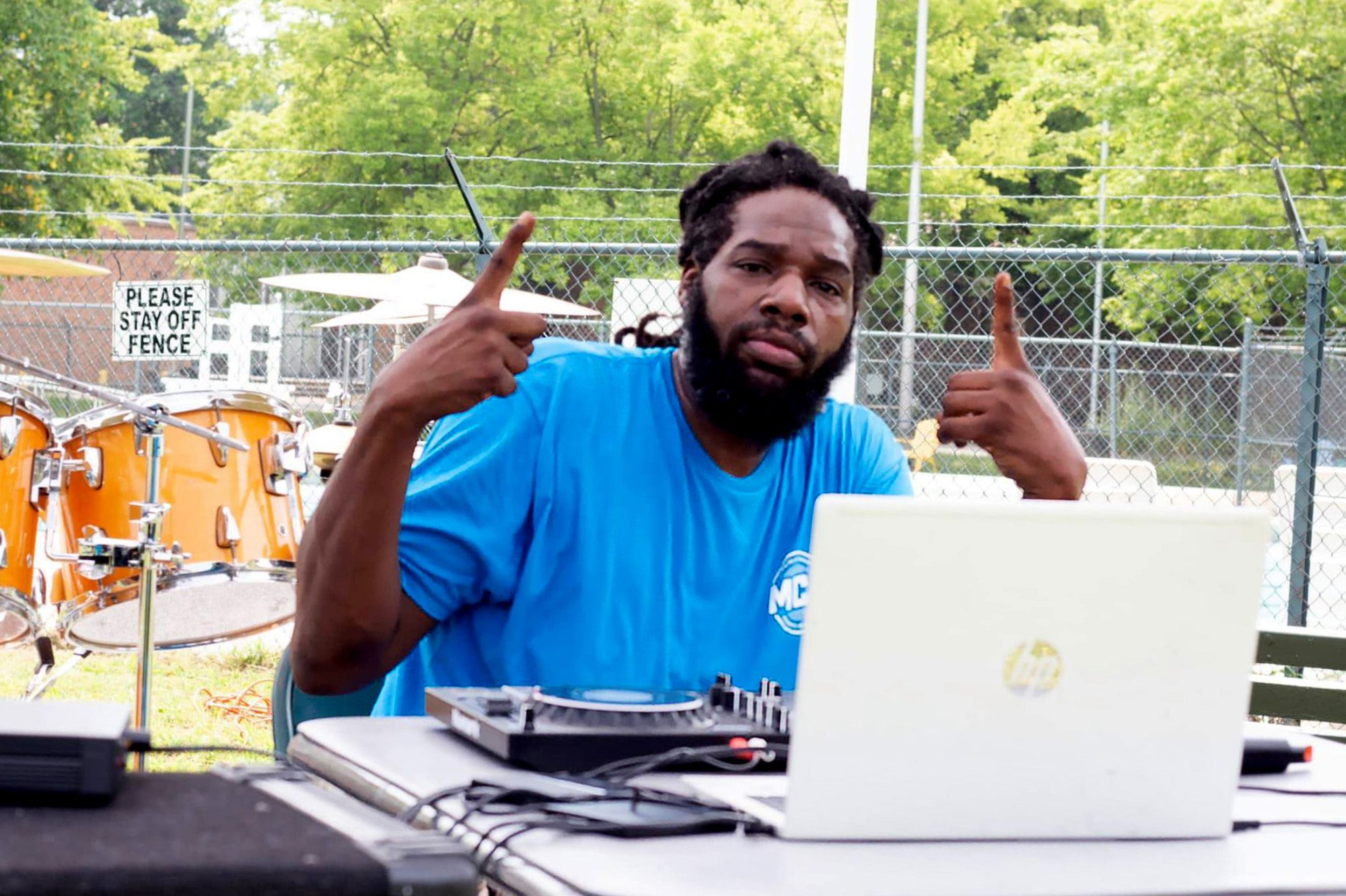 DJ Prospect Out Hrr at Marquette Community Day in Dutchtown, St. Louis, MO.