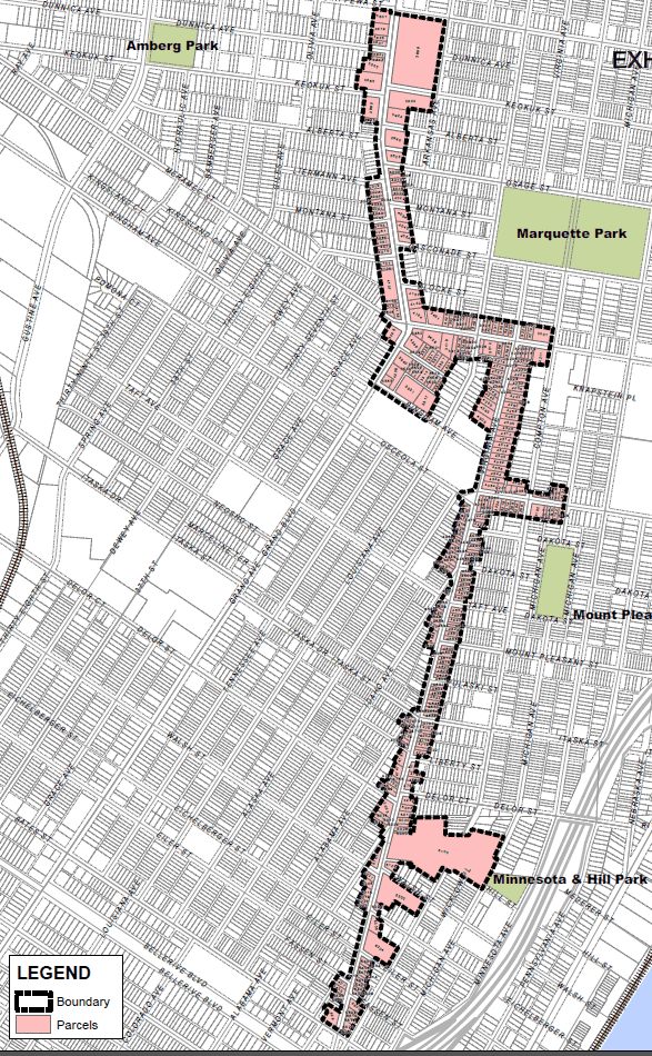 A map of the footprint of the Dutchtown CID.