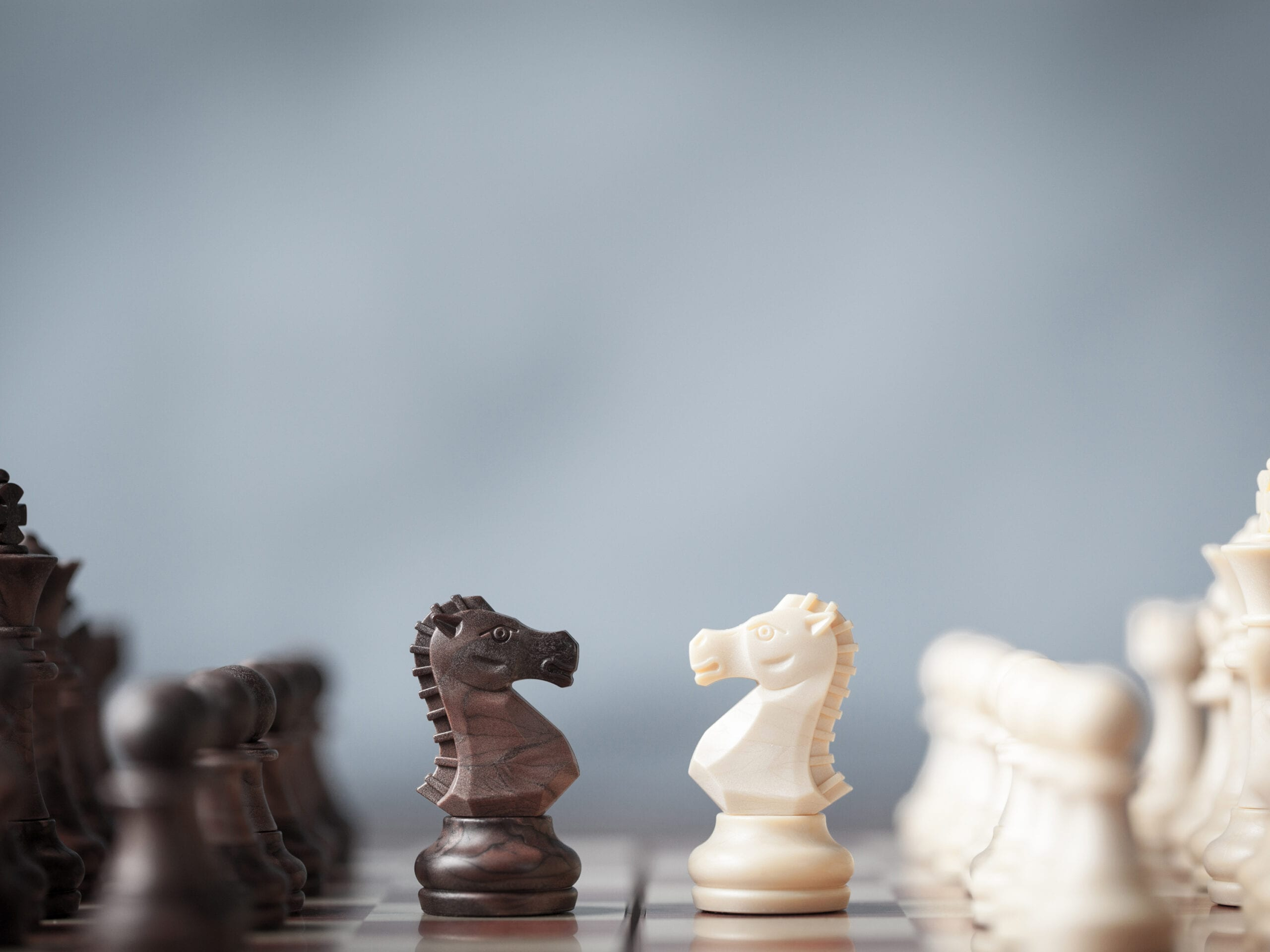 Knights on a chess board. RDM has extensive experience in alternative dispute resolution, mediation, and arbitration.