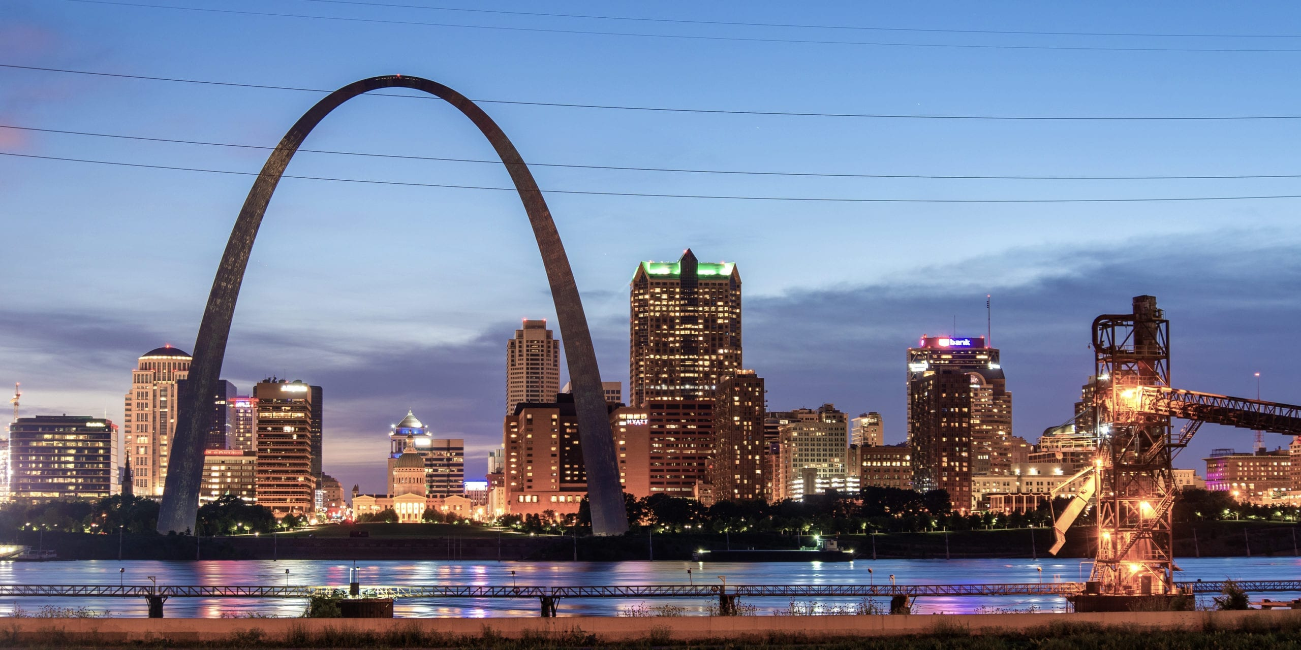 St. Louis riverfront and skyline. Photo by Flickr user Jim Bauer.