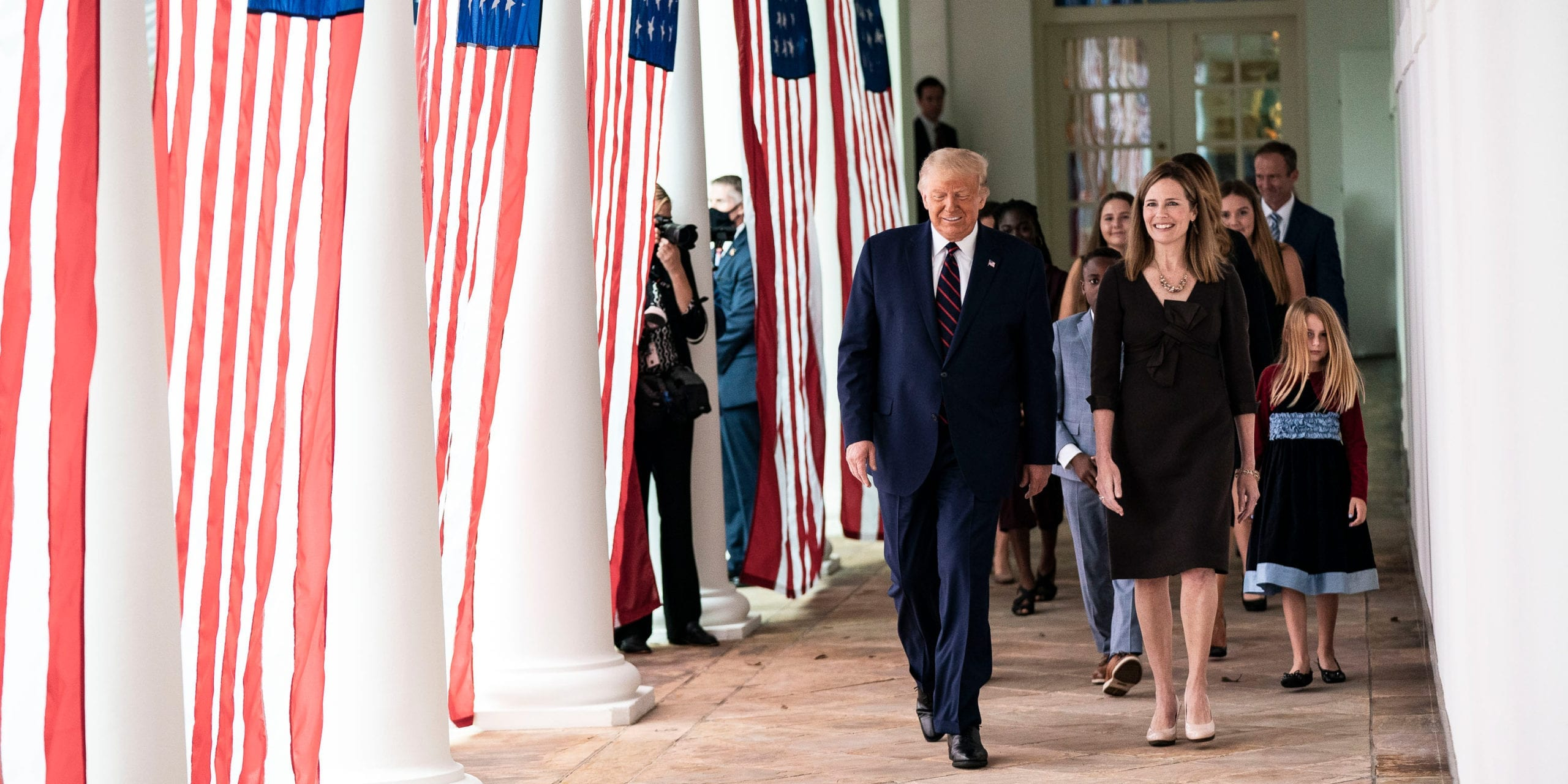 President Donald Trump and Supreme Court nominee Amy Coney Barrett at the White House. Photo courtesy of the White House.
