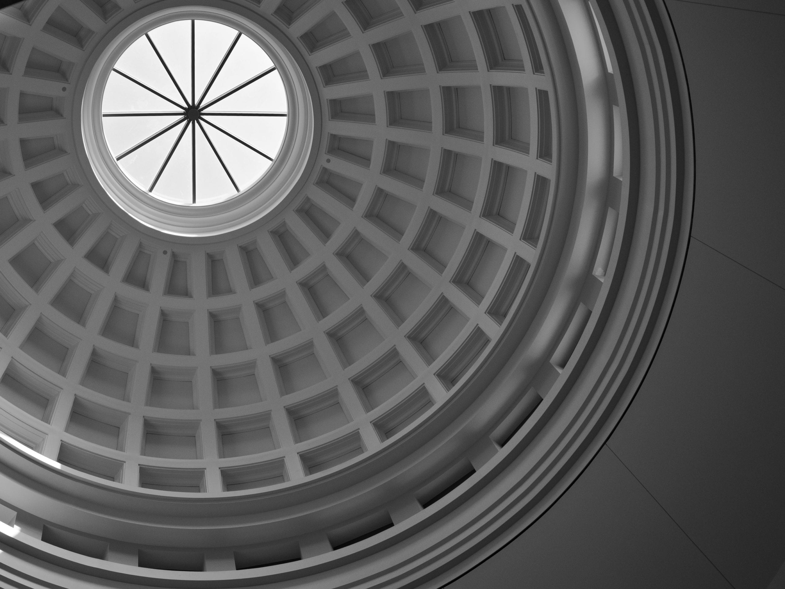 The interior dome of a courthouse. Photo by Flickr user Phil Roeder. RDM has experienced litigators and trial attorneys.