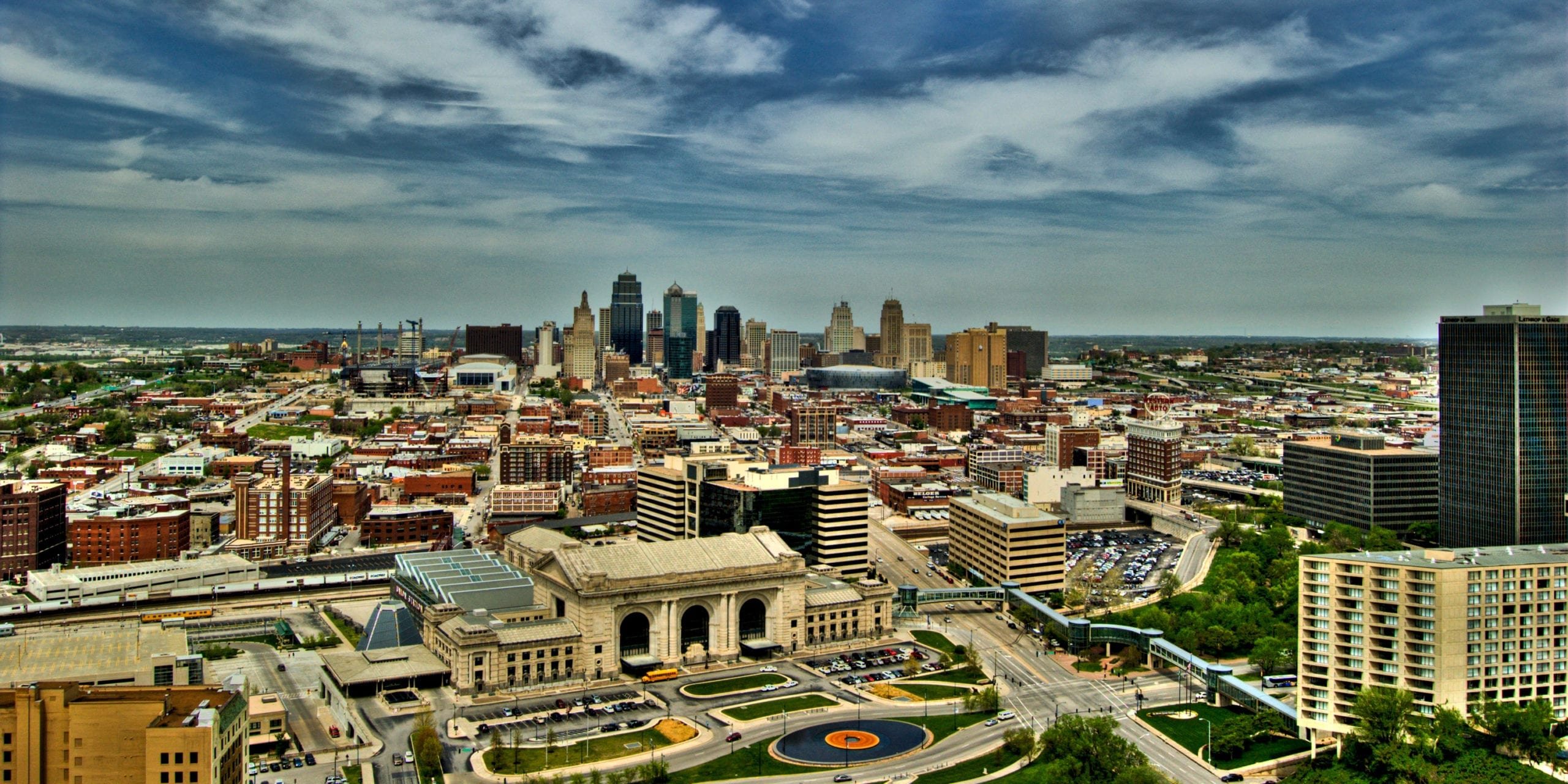 The Kansas City Skyline. Photo by Flickr user Tyler Thompson.