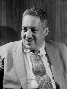 Portrait of Thurgood Marshall in 1957.